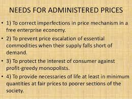 ADMINISTERED PRICES INCLUDING MSP AND PROCUREMENT PRICES
