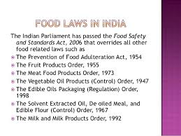 Food laws and regulations