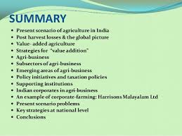 Post harvest technology and value addition in Food Processing