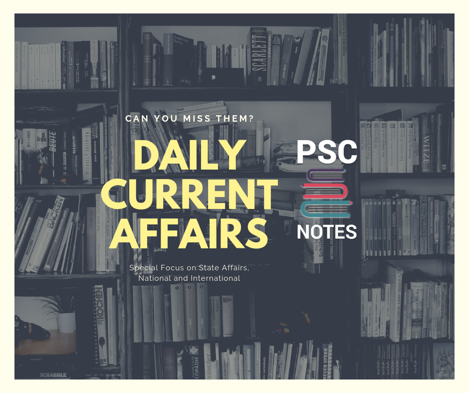 Current Affairs - Bihar PSC free Notes